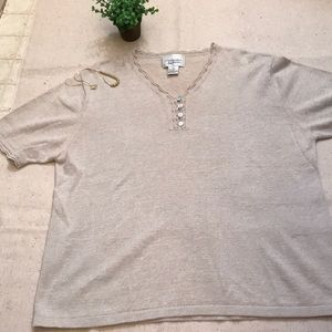 Christopher & Banks short sleeved sweater XL